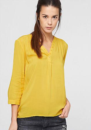 Bluza iz viskoze z gumbi