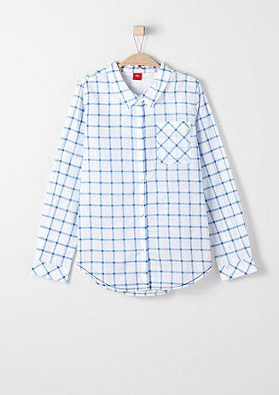 Bluza s karirastim vzorcem