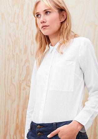 Bluza s skritim delom z gumbi