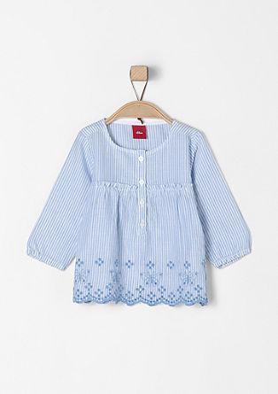Bluza v črtastem dizajnu