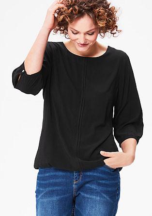 Bluza v obliki črke O s prešivi