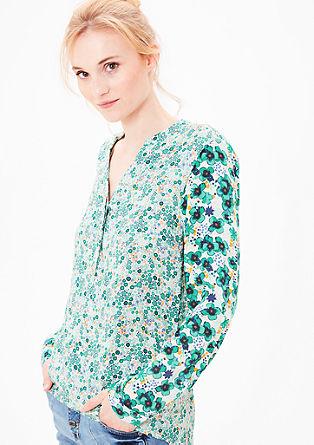 Bluza v slogu tunike s cvetličnim potiskom