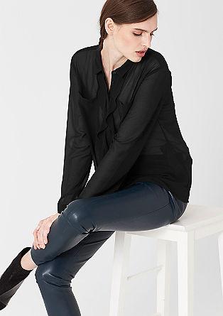 Bluza z dekorativnimi gubami