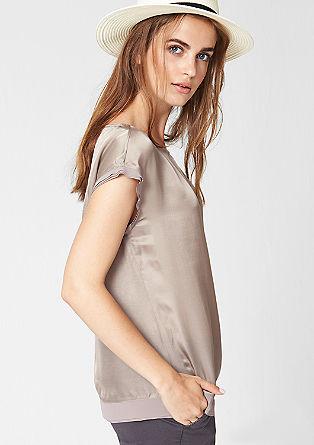 Bluza z deležem svile