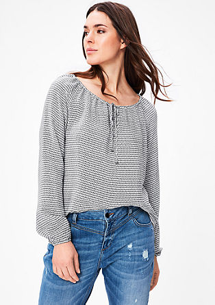 Bluza z drobnim vzorcem