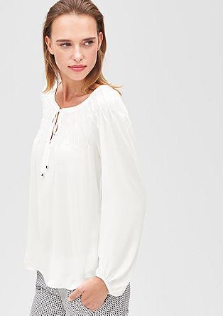 Bluza z naborki v obliki zvezde
