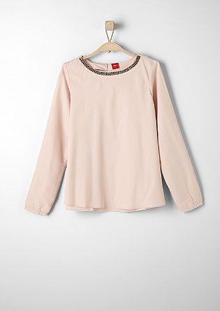 Bluza z okrašenim ovratnikom