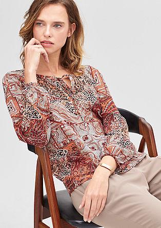 Bluza z okrasnim trakcem