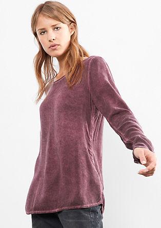 bluza z učinkom barvnega pranja