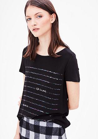Bluzna majica iz krepa z bleščicami