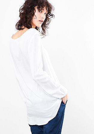 Bluzna majica iz viskoze, spredaj kratka, zadaj dolga