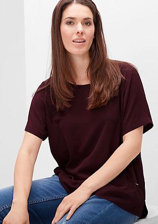 Bluzna majica iz viskoznega krepa