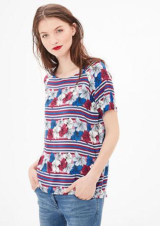 Bluzna majica s cvetličnim tiskom