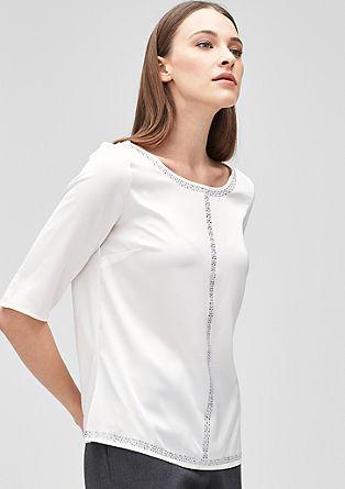 Bluzna majica s kamenčki Strass