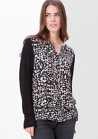 Bluzna majica s svilenim sprednjim delom