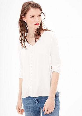 Bluzna majica z detajli s čipko