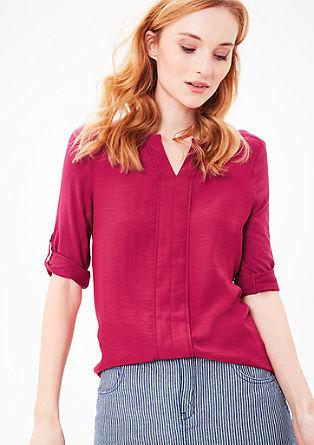 Bluzna majica z nagubanim detajlom