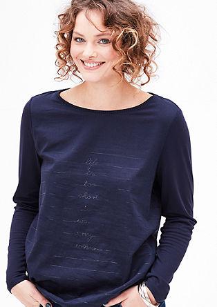 Bluzna majica z natisnjenim sporočilom