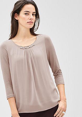 Bluzna majica z okrasnimi kamenčki