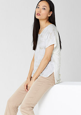 Bluzna majica z vzorčastim sprednjim delom