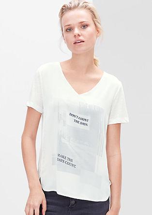 Bluzna srajca z romantičnim potiskom