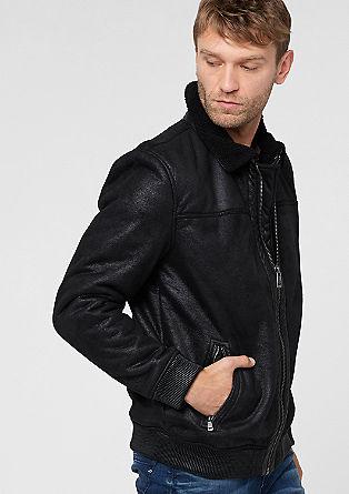 Bluzon jakna v videzu velurnega usnja