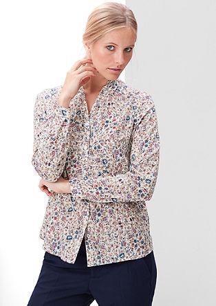 Bombažna bluza s cvetlicami