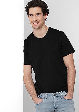 Bombažna majica z okroglim izrezom