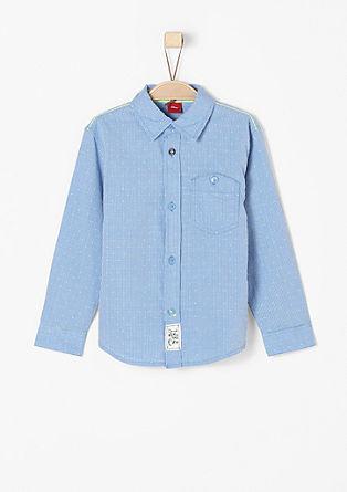 Bombažna srajca s tkano teksturo