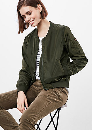 Bomber jacket in a nylon finish from s.Oliver