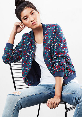 Bomber jacket with an all-over print from s.Oliver