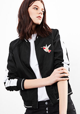 Bomber jacket with stitching from s.Oliver