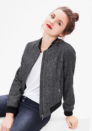 Bomber-style wool jacket from s.Oliver