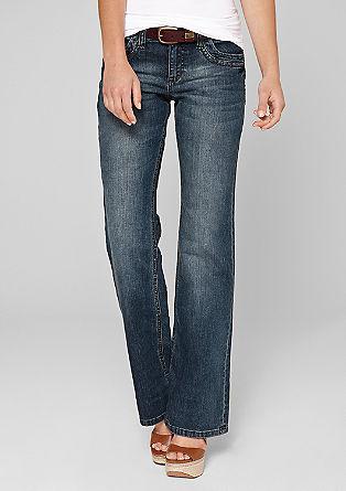 Bootcut: jeans met een riem