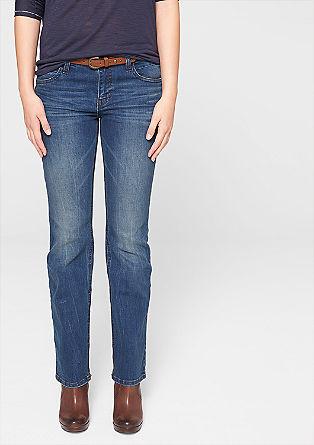 Bootcut: Jeans mit Gürtel