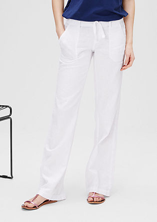 Bootcut: linen blend trousers from s.Oliver