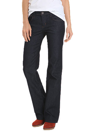 Bootcut: Slightly flared stretch jeans with a low rise waist from s.Oliver