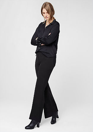 Bootcut business trousers from s.Oliver