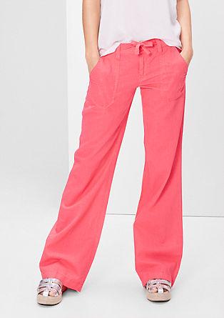 Bootcutmodel: broek van een linnenmix