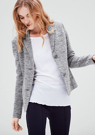 Bouclé blazer jacket from s.Oliver
