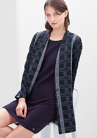 Bouclé coat with a check pattern from s.Oliver