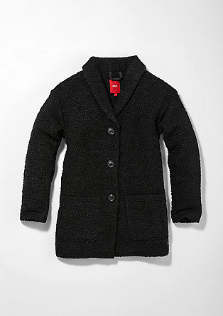 Bouclé coat with a lapel from s.Oliver