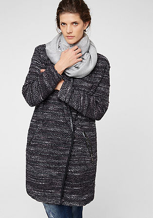 Bouclé coat with imitation leather details from s.Oliver