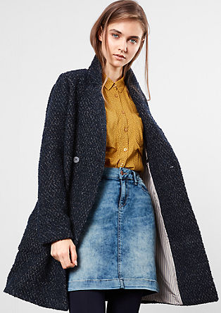 Bouclé coat with plush lining from s.Oliver