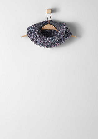 Bouclé knit snood from s.Oliver