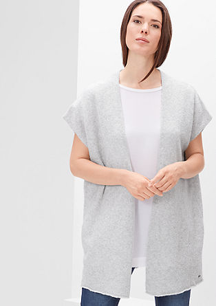 Bouclé poncho in blended wool from s.Oliver