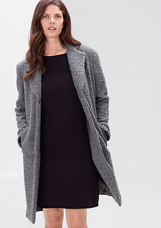 Bouclé short coat with alpaca from s.Oliver
