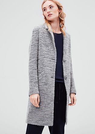 Bouclé wool coat from s.Oliver