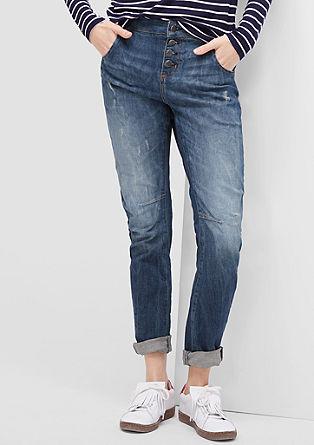 Bowleg: casual jeans met slijtageplekken