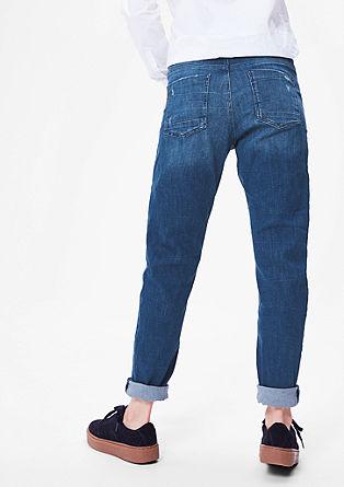 Bowleg: jeans met slijtageplekken